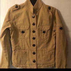 Jordache Vintage Tan Button Down Jacket
